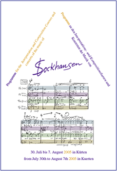 Stockhausen Courses Kuerten 2005