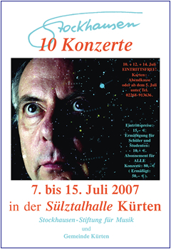 Stockhausen Courses Kuerten 2007